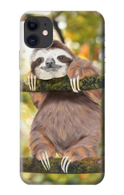 S3138 Cute Baby Sloth Paint Case For iPhone 11
