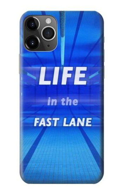 S3136 Life in the Fast Lane Swimming Pool Case For iPhone 11 Pro