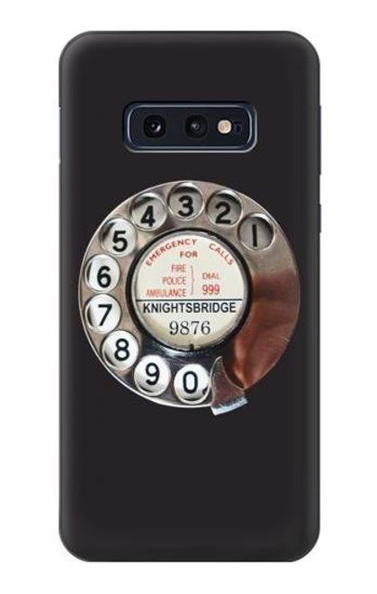 S0059 Retro Rotary Phone Dial On Case For Samsung Galaxy S10e