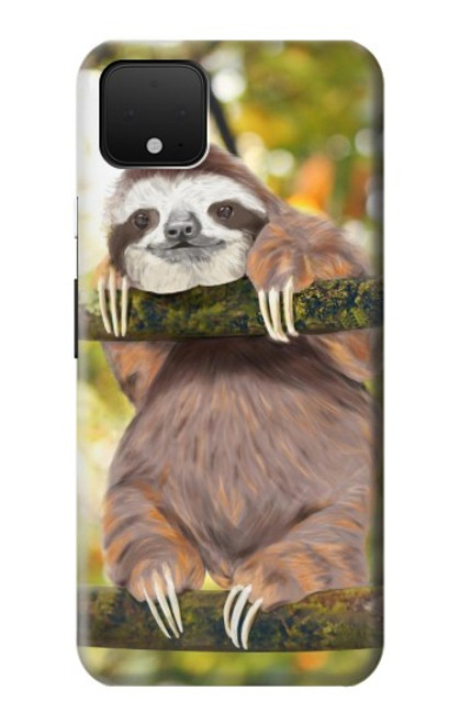 S3138 Cute Baby Sloth Paint Case For Google Pixel 4 XL