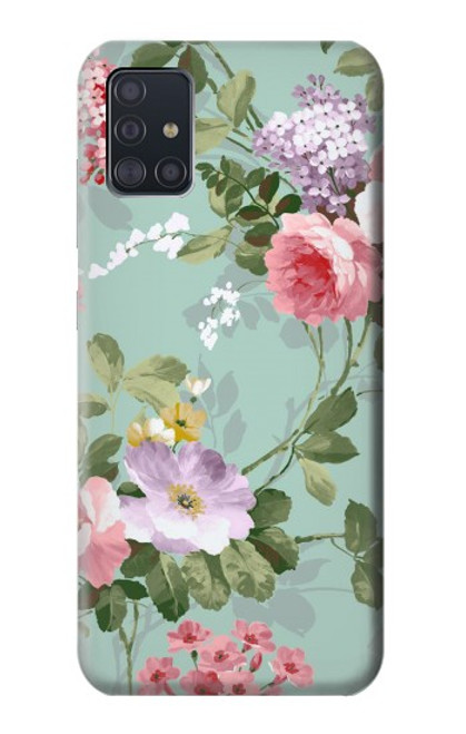 S2178 Flower Floral Art Painting Case For Samsung Galaxy A51