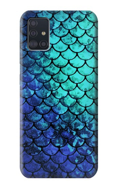 S3047 Green Mermaid Fish Scale Case For Samsung Galaxy A51