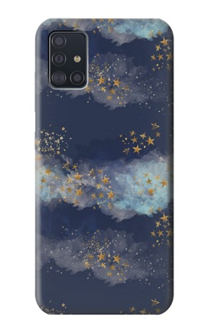 S3364 Gold Star Sky Case For Samsung Galaxy A51