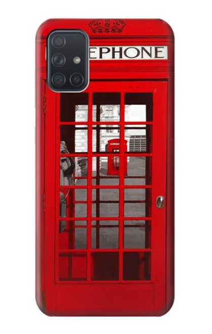 S0058 British Red Telephone Box Case For Samsung Galaxy A71