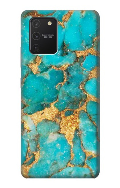S2906 Aqua Turquoise Stone Case For Samsung Galaxy S10 Lite
