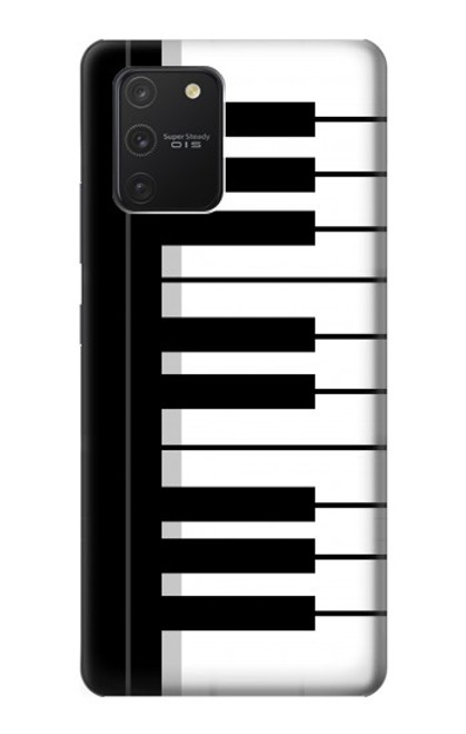 S3078 Black and White Piano Keyboard Case For Samsung Galaxy S10 Lite