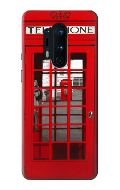 S0058 British Red Telephone Box Case For OnePlus 8 Pro