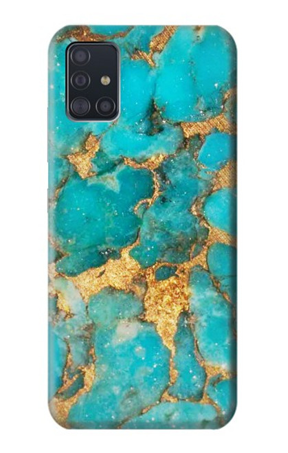S2906 Aqua Turquoise Stone Case For Samsung Galaxy A51 5G