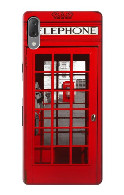 S0058 British Red Telephone Box Case For Sony Xperia L3