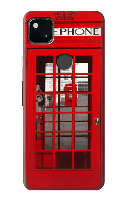 S0058 British Red Telephone Box Case For Google Pixel 4a