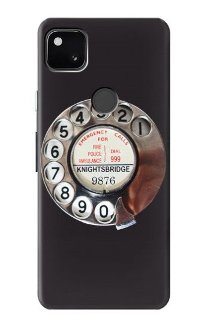 S0059 Retro Rotary Phone Dial On Case For Google Pixel 4a