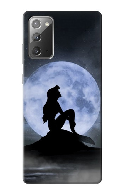 S2668 Mermaid Silhouette Moon Night Case For Samsung Galaxy Note 20