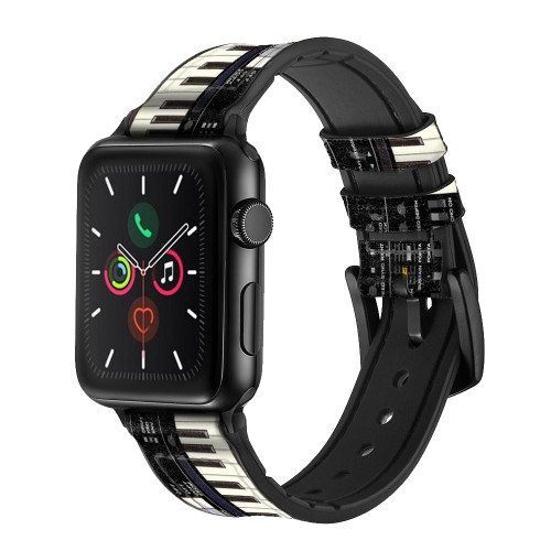 CA0002 Synthesizer Leather & Silicone Smart Watch Band Strap For Apple Watch iWatch