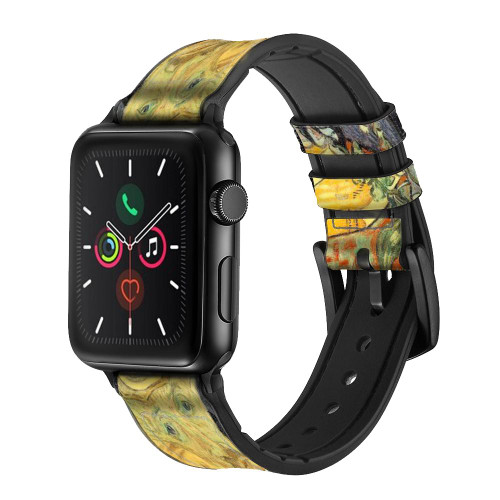 CA0020 Van Gogh Portrait of Dr. Gachet Leather & Silicone Smart Watch Band Strap For Apple Watch iWatch