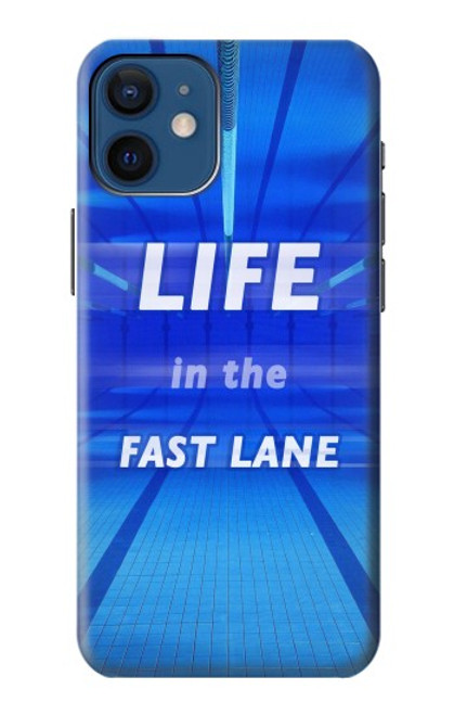 S3136 Life in the Fast Lane Swimming Pool Case For iPhone 12 mini