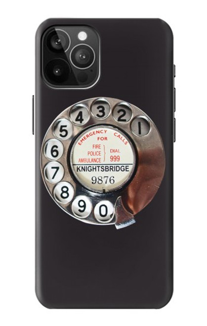 S0059 Retro Rotary Phone Dial On Case For iPhone 12 Pro Max