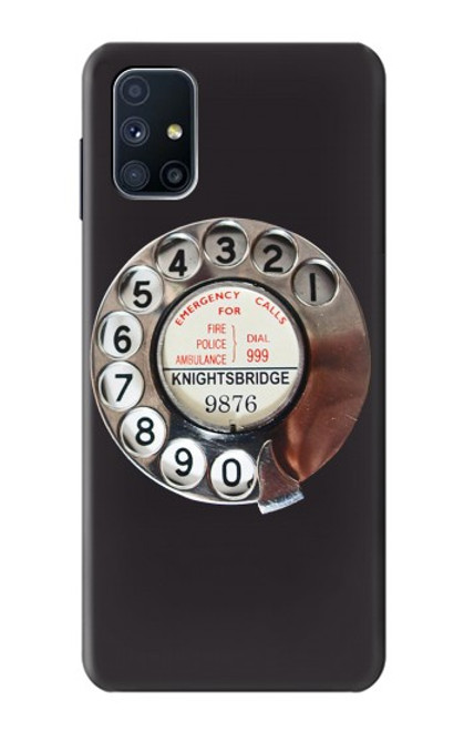 S0059 Retro Rotary Phone Dial On Case For Samsung Galaxy M51
