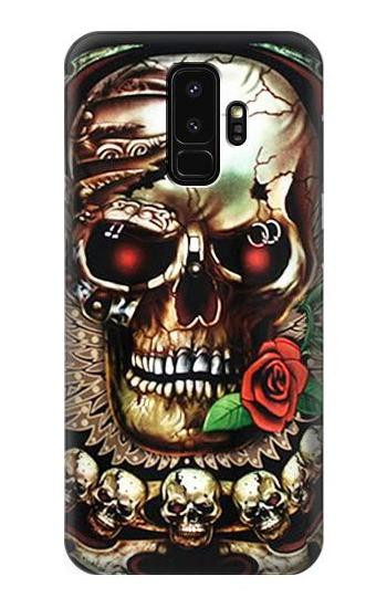 the latest f6400 38725 S0753 Skull Wing Rose Punk Case For Samsung Galaxy S9 Plus
