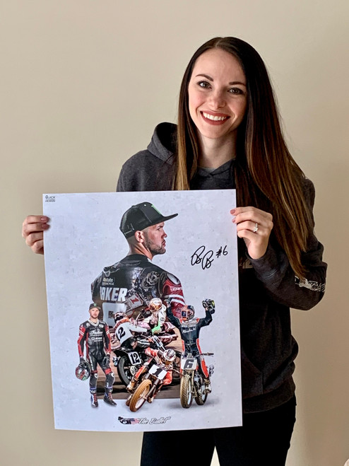 "Limited Edition Brad ""The Bullet"" Baker Autographed Poster ""Collage"""