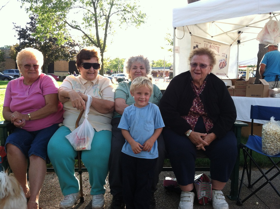 These ladies came to the market each week to shop and enjoy my young son at this cute age.  I do miss those days!