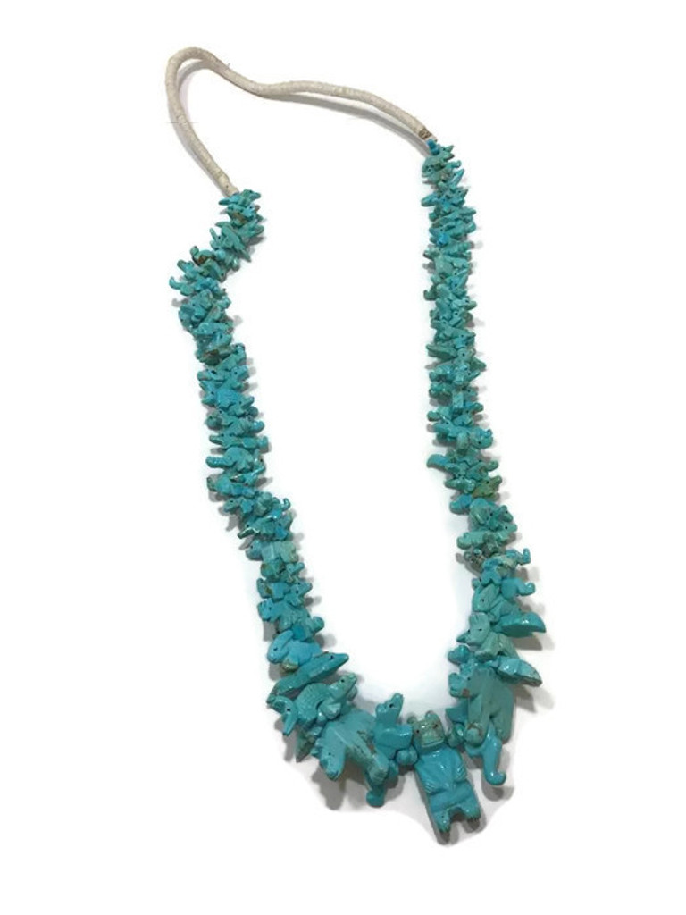 Native American Turquoise Fetish Necklace