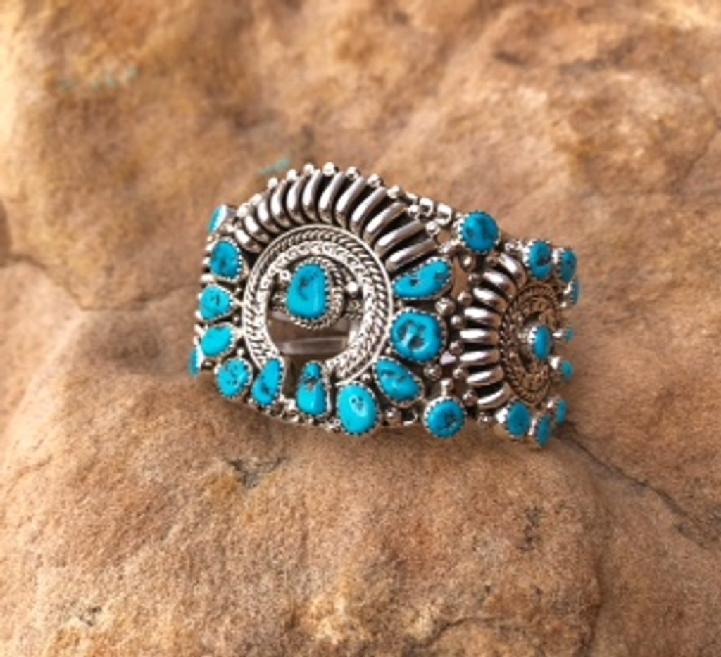 Chaco Canyon Turquoise & Sterling Cuff