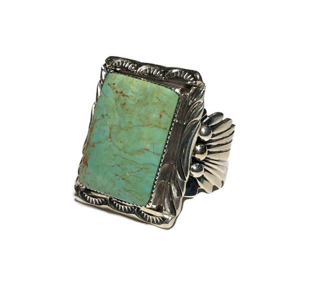 Turquoise & Ceremonial Men Ring