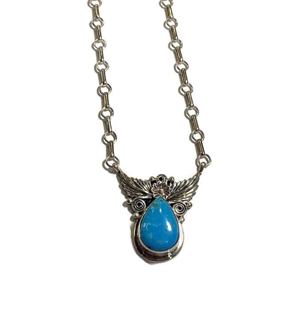 Teardrop Turquoise Sterling Silver