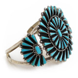 Turquoise and Silver Cuff