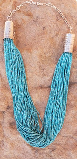 Turquoise 50 Strand Beaded Necklaces