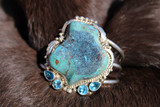 Chaco Canyon Turquoise And Topaz Cuff