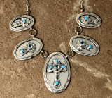 Chaco Canyon Silver Cross Necklace