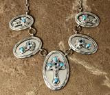 Chaco Canyon Silver Cross Necklace