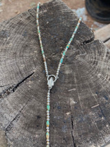 Kingman Turquoise Rosary Necklace