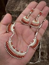 Zuni Artist Bryant Watsath Carol Needlpoint Necklace/Earring Set