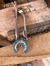 Chaco Canyon Sleeping Beauty Turquoise Zuni Choker Artist Lorna Mahkee