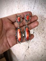 Navajo Oval Drop Earring Artist Marie Jones