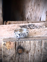 All Silver Flower Leaf Ring Navajo Made