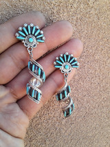 ZUNI DANGLE SPIRAL EARRINGS