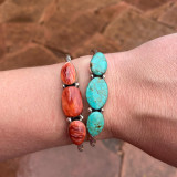 Love these! Perfect for everyday wear! Your choice of ceremonial green, spiney oyster red, white buffalo, or Blue Kingman
