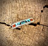 Chaco Canyon Inlay Multi-Stone Zuni Baby Bracelet