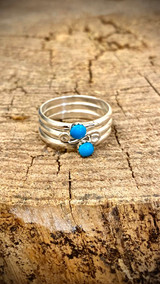 Chaco Canyon 3 Stacker Swirl Me Around Turquoise Rings