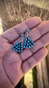 Vintage** Zuni Triangle Earrings