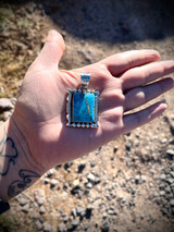 Vintage** Rectangle Kingman Turquoise Pendant