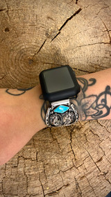 Chaco Canyon Double Horse Kingman Turquoise Watch