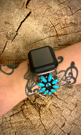 Chaco Canyon Cluster Turquoise/Blue Topaz Watch