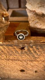 Silver Star Ring Navajo Artist David Lopez