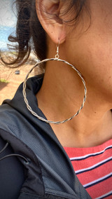 Chaco Canyon Silver Braided Hoops