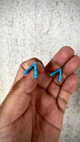 Chaco Canyon Teepee Pole Kingman Turquoise Earrings
