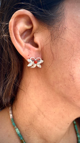 Chaco Canyon Coral Buttery Fly Studs